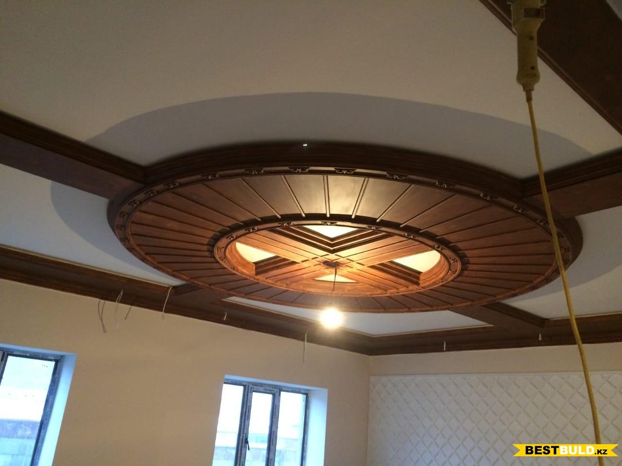 Декоративная отделка потолка и стен